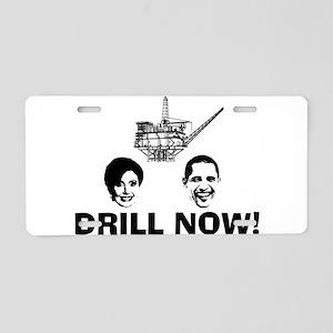 Drill Now Republican Oil Aluminum License Plate