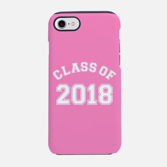 Class Of 2018 Pink iPhone 7 Tough Case