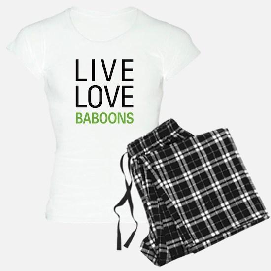 Live Love Baboons Pajamas