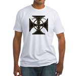 USA or Nothing Iron Cross 8 Fitted T-Shirt