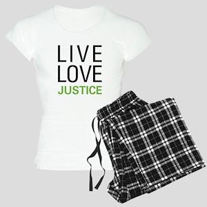 Live Love Justice Women's Light Pajamas