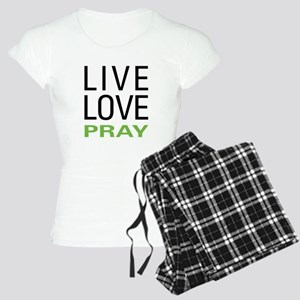 Live Love Pray Women's Light Pajamas