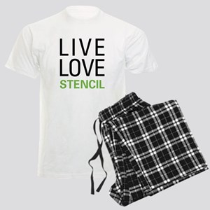 Live Love Stencil Men's Light Pajamas