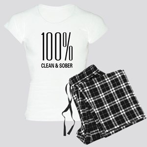 100 Percent Clean and Sober Women's Light Pajamas