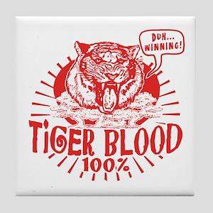 Tiger Blood Tile Coaster