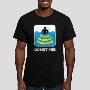 Do Not Pee Men's Fitted T-Shirt (dark)