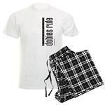 Dobies Rule Doberman Pinscher Men's Light Pajamas