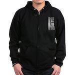 Collies Rule Zip Hoodie (dark)