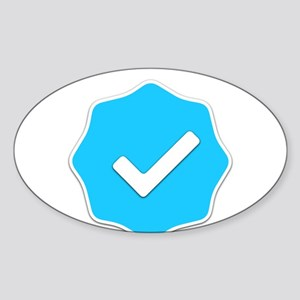 """Verified Account"" Sticker (Oval)"