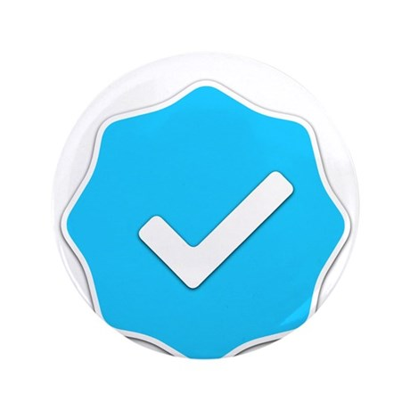 """Verified Account"" 3.5"" Button"