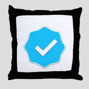 """Verified Account"" Throw Pillow"