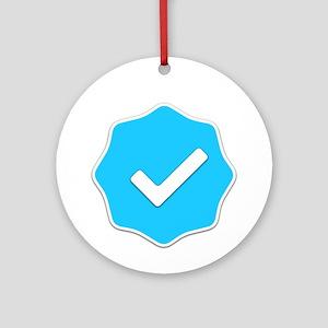 """Verified Account"" Ornament (Round)"