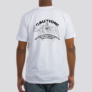 Caution Old Woman On Horse T-Shirt