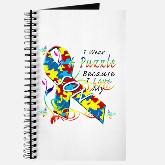 I Wear A Puzzle Because I Love My Son Journal
