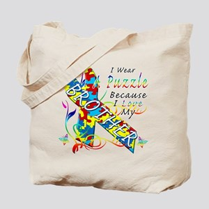 I Wear A Puzzle Because I Love My Brother Tote Bag