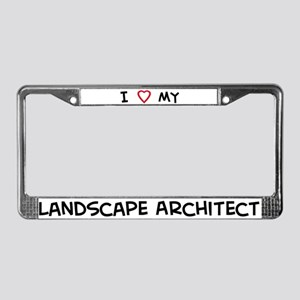 I Love Landscape Architect License Plate Frame