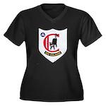 USS COLAHAN Women's Plus Size V-Neck Dark T-Shirt