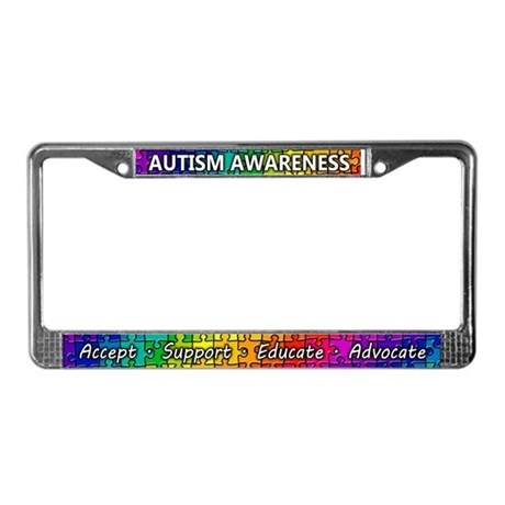 Autism Awareness License Plate Frame by fabuulous_gear