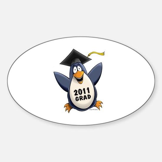 Class of 2011 Penguin Sticker (Oval)