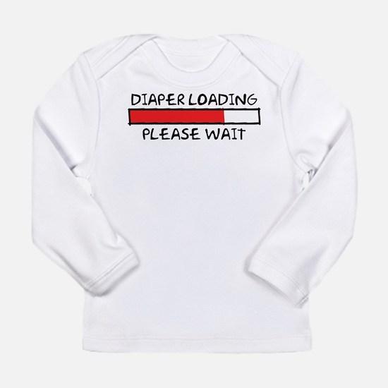 Diaper Loading Long Sleeve Infant T-Shirt