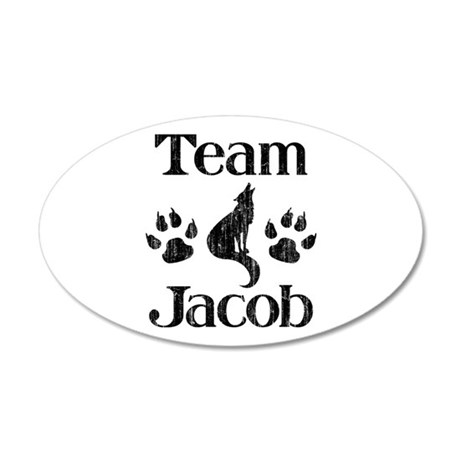 Team Jacob 3 38.5 x 24.5 Oval Wall Peel