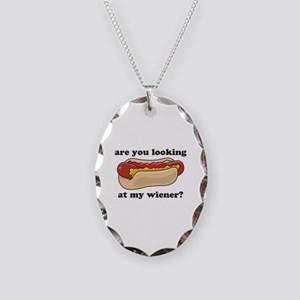 My Wiener Necklace Oval Charm