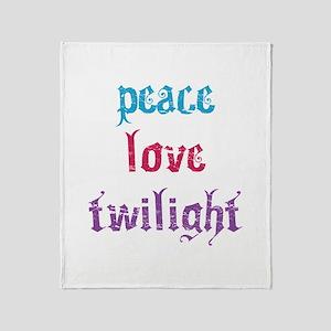 Peace Love Twilight 2 Throw Blanket