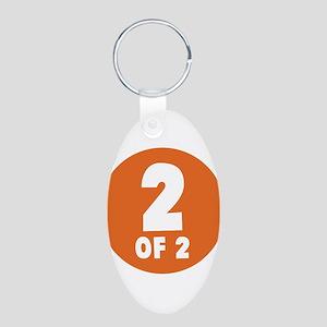 2 Of 2 Aluminum Oval Keychain