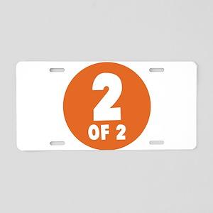 2 Of 2 Aluminum License Plate