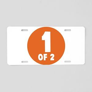 1 Of 2 Aluminum License Plate