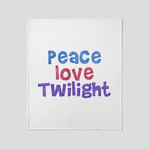 Peace Love Twilight Throw Blanket