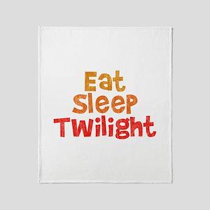 Eat Sleep Twilight Throw Blanket