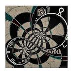 Distorted Dartboard Tile Coaster