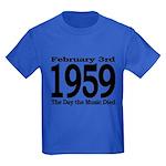 1959 - The Day the Music Died Kids Dark T-Shirt