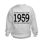 1959 - The Day the Music Died Kids Sweatshirt