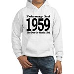 1959 - The Day the Music Died Hooded Sweatshirt
