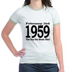 1959 - The Day the Music Died Jr. Ringer T-Shirt