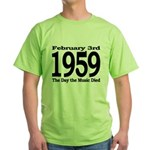 1959 - The Day the Music Died Green T-Shirt