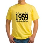 1959 - The Day the Music Died Yellow T-Shirt