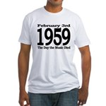 1959 - The Day the Music Died Fitted T-Shirt