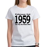 1959 - The Day the Music Died Women's T-Shirt