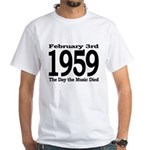 1959 - The Day the Music Died White T-Shirt