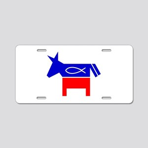 Christian Fish Dem Donkey Aluminum License Plate
