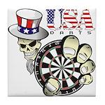 USA Darts Tile Coaster