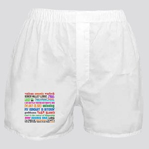 Charlie Quotes Boxer Shorts