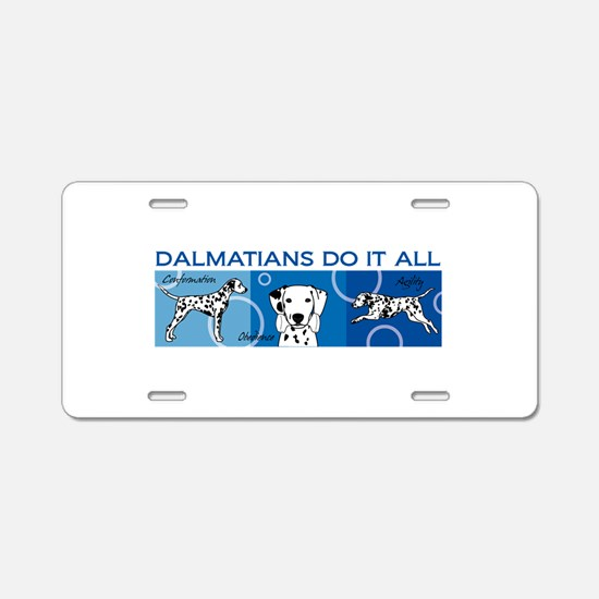 Unique Dalmatians Aluminum License Plate