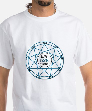 528 Love Solfeggio ~ White T-Shirt