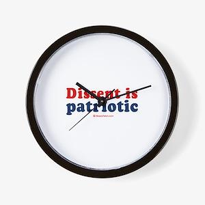 Dissent is patriotic -  Wall Clock