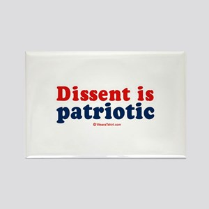 Dissent is patriotic - Rectangle Magnet