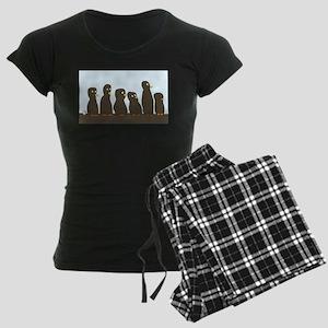 Easter Island Women's Dark Pajamas